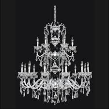 faure collection i 18l chandelier chrome finish w many shade options clear firenze or clear swarovski crystals 18 40w e12 lamps i w 1092mm h 1219mm