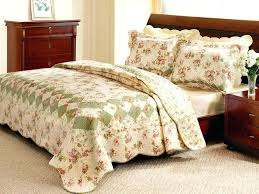 vintage comforters comforter sets romantic tea rose quilt set country style twin bed