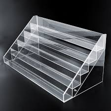 Acrylic Tiered Display Stands Wholesale Nail Polish Display Shelf Counter Top Acrylic Display 11