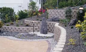 Small Picture Southwest Block Segmental Retaining Wall with split face rock