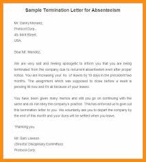 termination letter template 11 example of termination letter abstract sample