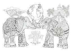 elephants coloring pages elephant baby cartoon