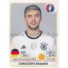 Mittelfeld ⬢ nationalmannschaft ⬢ länderspiele: Em 2016 Sticker 252 Christoph Kramer 0 99