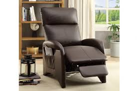 faux leather recliner95