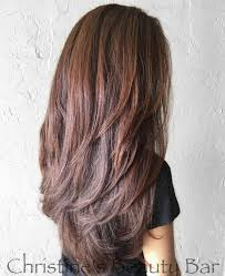 Layered Haircuts For Medium Length Hair Back View Gorgeous Brown