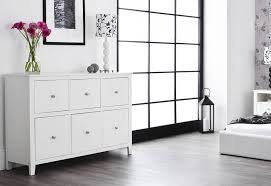 white painted finish statement furniture brooklyn white bedroom