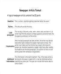 Newspaper Story Template Newspaper Story Template News Free Findspeed