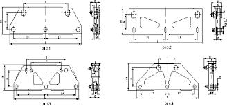 коромысла трехцепные двухреберные 3КД2 с <b>двумя</b> точками ...