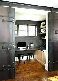 home office doors. Beautiful Office Metal Sliding Door Small Home Office With Green Barn On Rails  Transitional Industrial In Home Office Doors