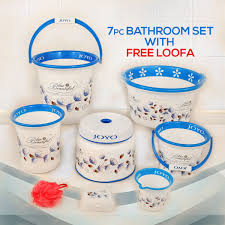 Buy 7 Pcs Bathroom Set with Free Loofa Online at Best Price in ...