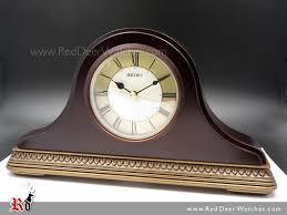seiko wooden mantel clock qxe017b