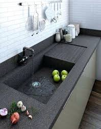 one piece sink and countertop one piece kitchen sink with drainboard 1 piece sink countertop