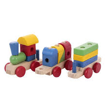canoe 3 piece wooden train toy set of 6 ct181216rj08