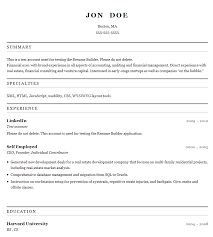 free quick resume builder