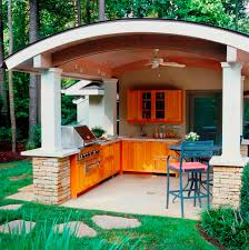 Outdoor Kitchen Cabinet Doors Kitchen Covered Outdoor Kitchen With Wooden Kitchen Set And