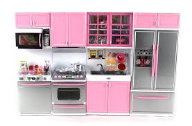 deluxe modern kitchen battery operated toy kitchen playset perfect for use with 11 5 tall dolls com