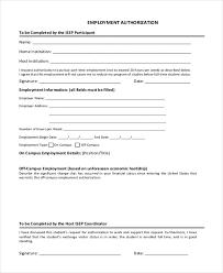 Famous Sample Employment Authorization Form Motif - Best Resume ...