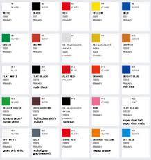 Gsi Creos Aqueous Hobby Color Unofficial Color Chart
