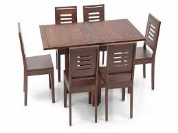 danton folding wooden dining set with table and six chairs part folding table set