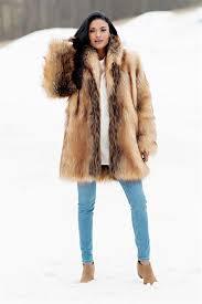 red fox shawl collar faux fur jacket 3