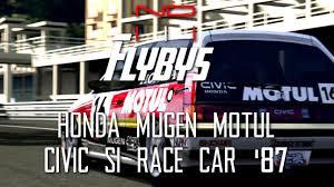 GT5) Honda MUGEN MOTUL CIVIC Si Race Car '87 - Flyby - YouTube