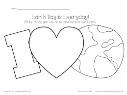 Small Picture Free for Earth Day Kids color the landwater and write how they