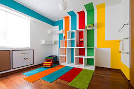 fantastic cool cubicle ideas. Wonderful Kids Playroom Ideas With Cool Multicolored Striped Wall Paint Design And White Plywood Cubicles Shelves Fantastic Cubicle E