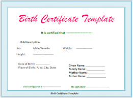 5 Birth Certificate Templates To Print Free Birth Certificates