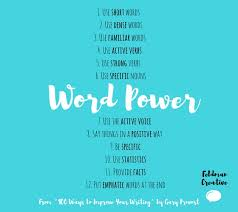 12 Word Power Pointers For The Marketing Content Writer