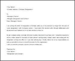 good letter of resignation good letter of resignation cute good letters of resignation for good