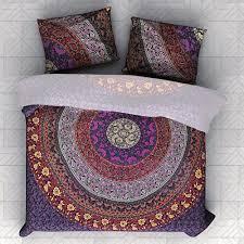 details about indian duvet doona cover comforter mandala hippie bohemian queen quilt cover set