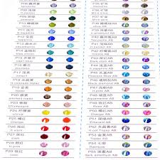 Swarovski Crystal Color Chart Actual Rhinestones Qiao Brand Rhinestone Color Card Many Colors For Hot Fix