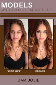 models without makeup model uma jolie is only 21 years old made up she looks much older but when this model is off duty she looks like the young