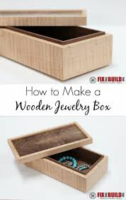 diy jewelry storage simple wooden jewelry box do it yourself crafts and projects for