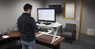 standing desk converter dual monitor. Unique Dual VertDesk Standing Desk Converter For Dual Monitor S