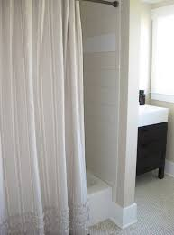 home decor simple bathroom with pottery barn ticking stripe shower curtain and for miraculous shower curtain for dark bathroom for your home decor