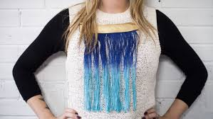 whether you ve been making your own jewellery years or are a novice ready to take on your first project you ll love this diy dip dye fringe necklace