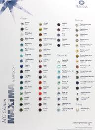 Preciosa Color Chart
