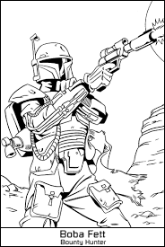 Small Picture Boba Fett Coloring Pages Star Wars Maelukecom