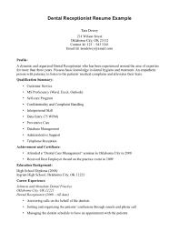 dental receptionist resume samples resume format  medical receptionist skills