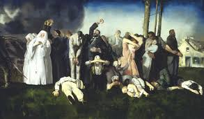 massacre at dinant by george bellows 1918