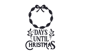 Many familiar christmas symbols are full of biblical meaning and christian history.christmas is filled with symbols. Days Until Christmas Ribbon Svg Cut File By Creative Fabrica Crafts Creative Fabrica