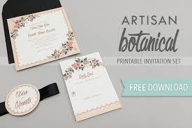 Free Download Wedding Invitation Templates Free Delicate Floral Wedding Invitation Suite The Budget Savvy Bride