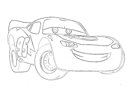 Small Picture Lightning Mcqueen Coloring Pages Free Lightning Mcqueen From Cars