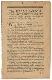 coming of the american revolution document viewer the examination of doctor benjamin franklin before an assembly relating to the repeal of the stamp act c