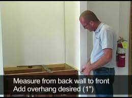 how to measure and install a vanity top