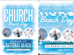 Beach Flyer Church Beach Day Flyer Template Flyerheroes