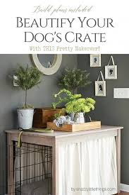 diy dog crate farmhouse table makeover with tension rods
