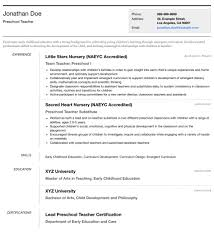 Resume Templates For Educators Adorable Photo Resume Templates Professional CV Formats Resumonk