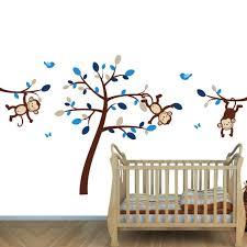 fullsize of plush brown blue jungle murals boys rooms nursery wall art australia nursery wall art
